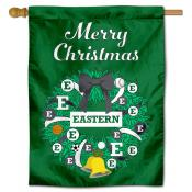 EMU Eagles Happy Holidays Banner Flag
