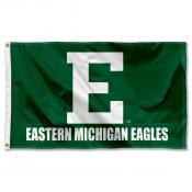 EMU Eagles Wordmark Logo Flag