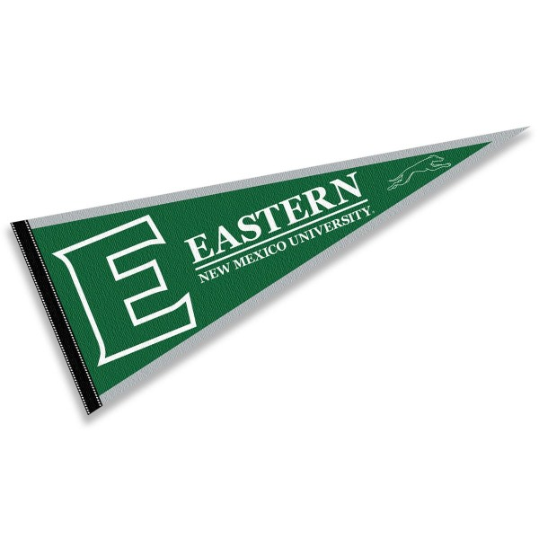 ENMU Greyhounds Pennant consists of our full size sports pennant which measures 12x30 inches, is constructed of felt, is single sided imprinted, and offers a pennant sleeve for insertion of a pennant stick, if desired. This ENMU Greyhounds Pennant Decorations is Officially Licensed by the selected university and the NCAA.