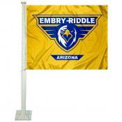 ERAU Eagles Car Window Flag