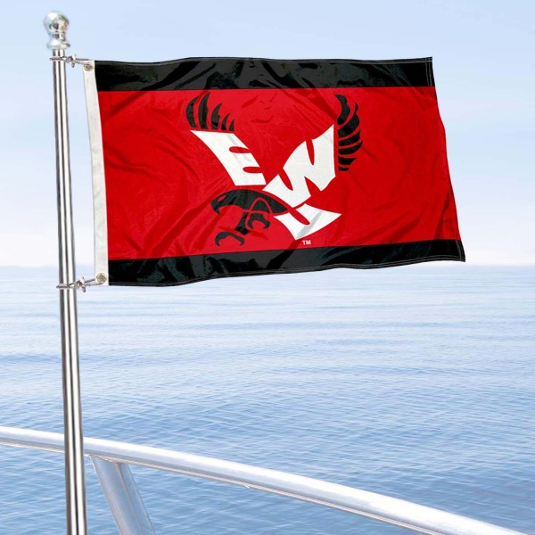 EWU Eagles Boat and Mini Flag is 12x18 inches, polyester, offers quadruple stitched flyends for durability, has two metal grommets, and is double sided. Our mini flags for Eastern Washington University are licensed by the university and NCAA and can be used as a boat flag, motorcycle flag, golf cart flag, or ATV flag.