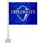 F&M Diplomats Logo Car Flag