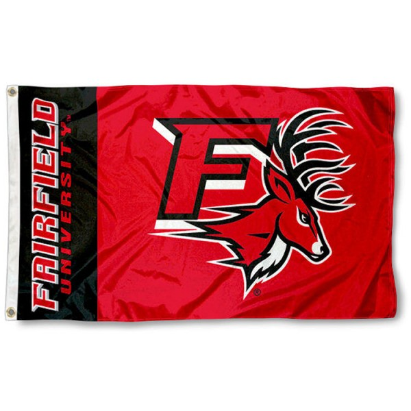 Fairfield University 3x5 Flag is made of 100% nylon, offers quad stitched flyends, measures 3x5 feet, has two metal grommets, and is viewable from both side with the opposite side being a reverse image. Our Fairfield University 3x5 Flag is officially licensed by the selected college and NCAA.