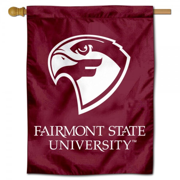Fairmont State Fighting Falcons Double Sided House Flag is a vertical house flag which measures 30x40 inches, is made of 2 ply 100% polyester, offers screen printed NCAA team insignias, and has a top pole sleeve to hang vertically. Our Fairmont State Fighting Falcons Double Sided House Flag is officially licensed by the selected university and the NCAA.