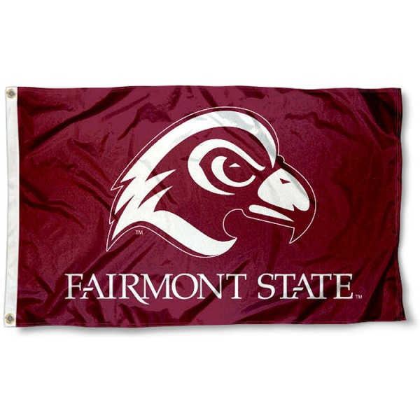 Fairmont State Fighting Falcons Flag measures 3'x5', is made of 100% poly, has quadruple stitched sewing, two metal grommets, and has double sided Team University logos. Our Fairmont State 3x5 Flag is officially licensed by the selected university and the NCAA.