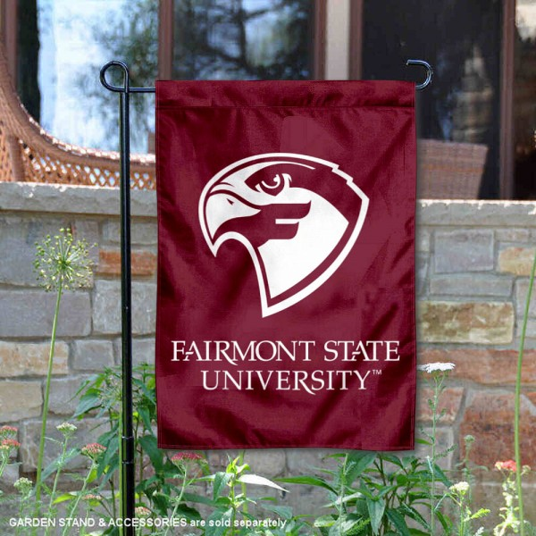 Fairmont State Fighting Falcons Garden Flag is 13x18 inches in size, is made of 2-layer polyester, screen printed university athletic logos and lettering, and is readable and viewable correctly on both sides. Available same day shipping, our Fairmont State Fighting Falcons Garden Flag is officially licensed and approved by the university and the NCAA.