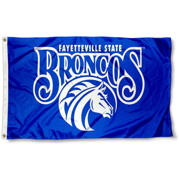 Fayetteville State Broncos Flag measures 3'x5', is made of 100% poly, has quadruple stitched sewing, two metal grommets, and has double sided Team University logos. Our FSU Broncos 3x5 Flag is officially licensed by the selected university and the NCAA.