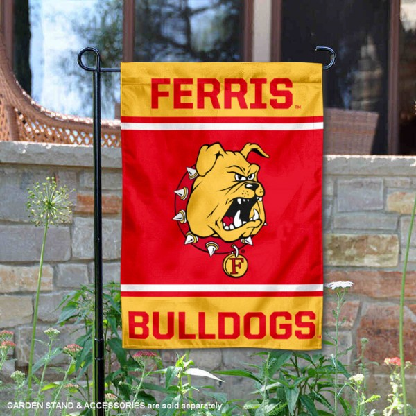 Ferris State Bulldogs Garden Flag is 13x18 inches in size, is made of 2-layer polyester, screen printed logos and lettering. Available with Same Day Express Shipping, Our Ferris State Bulldogs Garden Flag is officially licensed and approved by the NCAA.