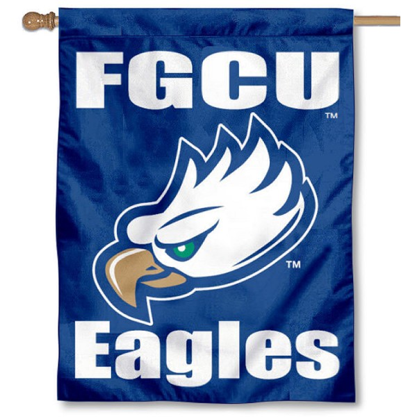 FGCU Eagles Banner Flag is a vertical house flag which measures 30x40 inches, is made of 2 ply 100% polyester, offers screen printed NCAA team insignias, and has a top pole sleeve to hang vertically. Our FGCU Eagles Banner Flag is officially licensed by the selected university and the NCAA.