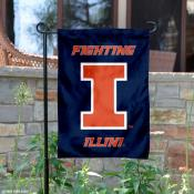Fighting Illini New Logo Garden Flag