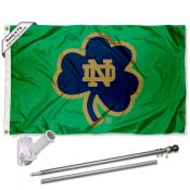 Fighting Irish Shamrock Flag Pole and Bracket Kit