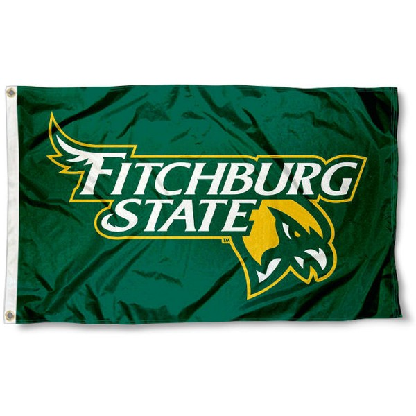 Fitchburg Falcons Flag measures 3x5 feet, is made of 100% polyester, offers quadruple stitched flyends, has two metal grommets, and offers screen printed NCAA team logos and insignias. Our Fitchburg Falcons Flag is officially licensed by the selected university and NCAA.
