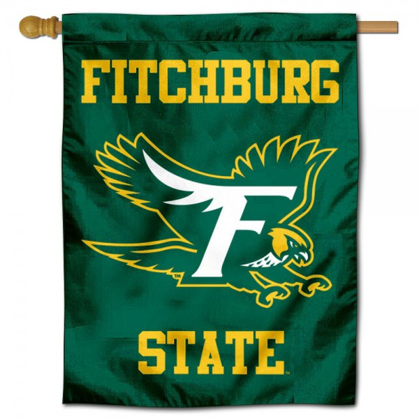 Fitchburg Falcons Logo Double Sided House Flag is a vertical house flag which measures 30x40 inches, is made of 2 ply 100% polyester, offers screen printed NCAA team insignias, and has a top pole sleeve to hang vertically. Our Fitchburg Falcons Logo Double Sided House Flag is officially licensed by the selected university and the NCAA.