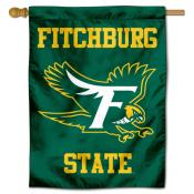 Fitchburg Falcons Logo Double Sided House Flag