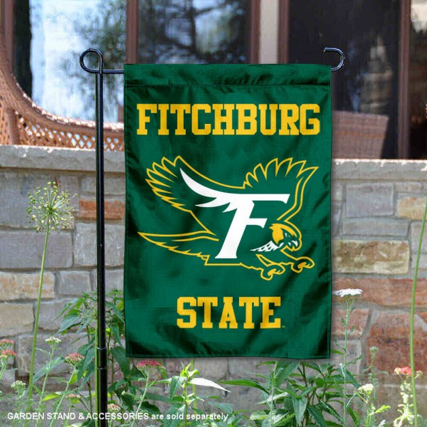 Fitchburg Falcons Logo Garden Flag is 13x18 inches in size, is made of 2-layer polyester, screen printed university athletic logos and lettering, and is readable and viewable correctly on both sides. Available same day shipping, our Fitchburg Falcons Logo Garden Flag is officially licensed and approved by the university and the NCAA.