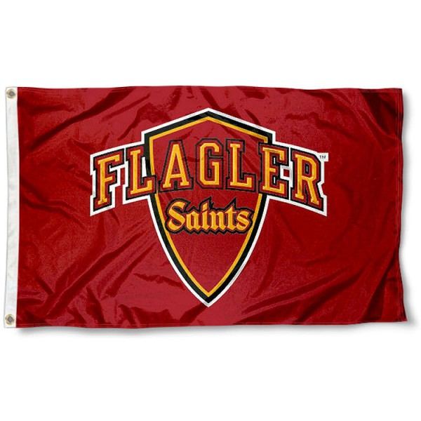 Flagler College Saints Flag measures 3'x5', is made of 100% poly, has quadruple stitched sewing, two metal grommets, and has double sided Team University logos. Our Flagler Saints 3x5 Flag is officially licensed by the selected university and the NCAA.