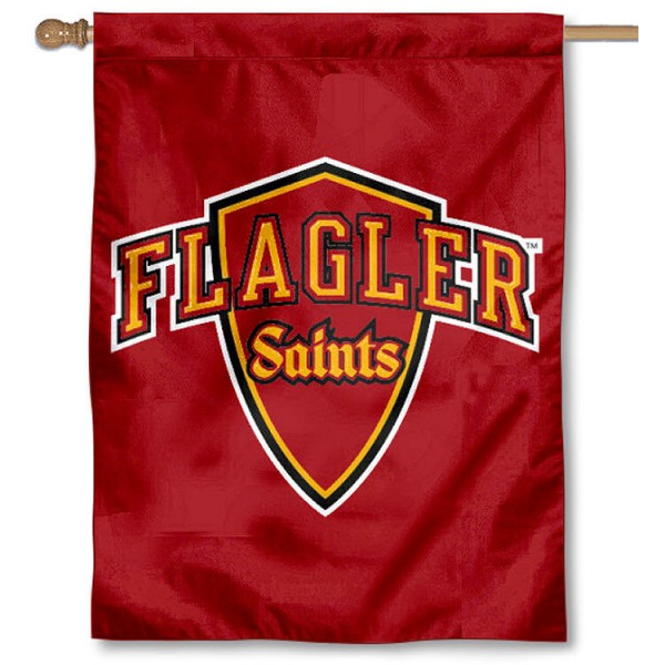 Flagler Saints Banner Flag is a vertical house flag which measures 30x40 inches, is made of 2 ply 100% polyester, offers screen printed NCAA team insignias, and has a top pole sleeve to hang vertically. Our Flagler Saints Banner Flag is officially licensed by the selected university and the NCAA.