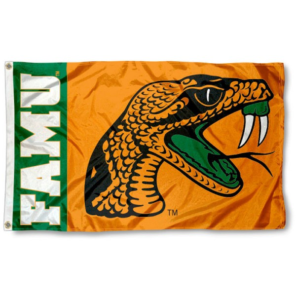 Florida A&M 3x5 Flag is made of 100% nylon, offers quad stitched flyends, measures 3x5 feet, has two metal grommets, and is viewable from both side with the opposite side being a reverse image. Our Florida A&M 3x5 Flag is officially licensed by the selected college and NCAA.