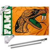 Florida A&M Rattlers Flag Pole and Bracket Kit