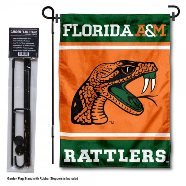 Florida A&M Rattlers Garden Flag and Pole Stand Holder