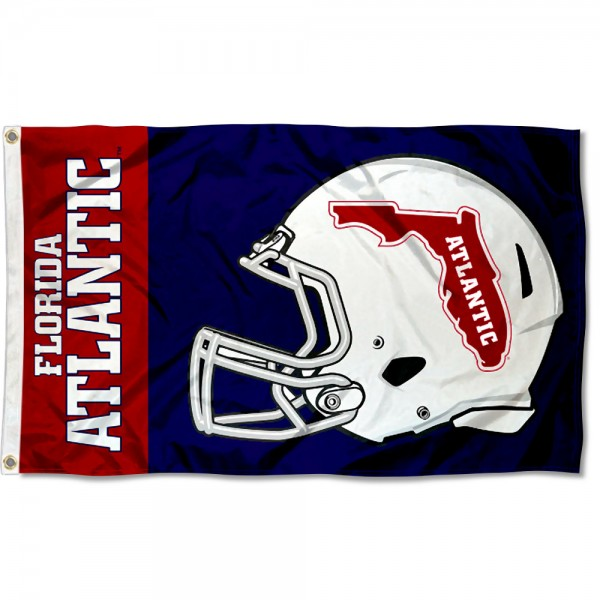Florida Atlantic Owls Football Helmet Flag measures 3x5 feet, is made of 100% polyester, offers quadruple stitched flyends, has two metal grommets, and offers screen printed NCAA team logos and insignias. Our Florida Atlantic Owls Football Helmet Flag is officially licensed by the selected university and NCAA.