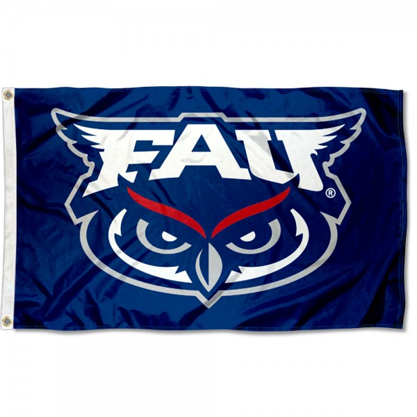 Florida Atlantic Owls New Logo Flag measures 3x5 feet, is made of 100% polyester, offers quadruple stitched flyends, has two metal grommets, and offers screen printed NCAA team logos and insignias. Our Florida Atlantic Owls New Logo Flag is officially licensed by the selected university and NCAA.
