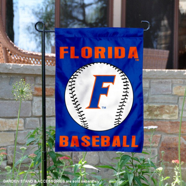 Florida Gators Baseball Team Garden Flag is 13x18 inches in size, is made of 2-layer polyester, screen printed University of Florida Baseball athletic logos and lettering. Available with Express Shipping, Our Florida Gators Baseball Team Garden Flag is officially licensed and approved by University of Florida Baseball and the NCAA.