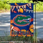Florida Gators Fall Football Autumn Leaves Decorative Garden Flag