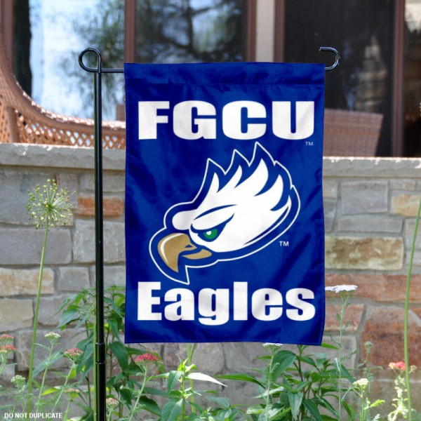 Florida Gulf Coast FGCU Garden Flag is 13x18 inches in size, is made of 2-layer polyester, screen printed Florida Gulf Coast University athletic logos and lettering. Available with Same Day Express Shipping, Our Florida Gulf Coast FGCU Garden Flag is officially licensed and approved by Florida Gulf Coast University and the NCAA.
