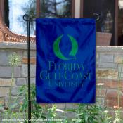 Florida Gulf Coast University Academic Logo Garden Flag