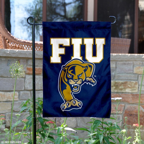 Florida International Garden Flag is 13x18 inches in size, is made of 2-layer polyester, screen printed Florida International athletic logos and lettering. Available with Same Day Express Shipping, Our Florida International Garden Flag is officially licensed and approved by Florida International and the NCAA.