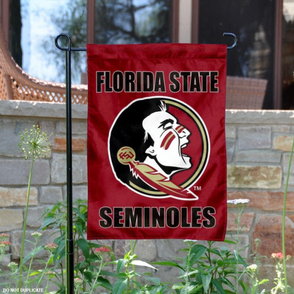 Florida State Garden Flag is 13x18 inches in size, is made of 2-layer polyester, screen printed Florida State athletic logos and lettering. Available with Same Day Express Shipping, Our Florida State Garden Flag is officially licensed and approved by Florida State and the NCAA.