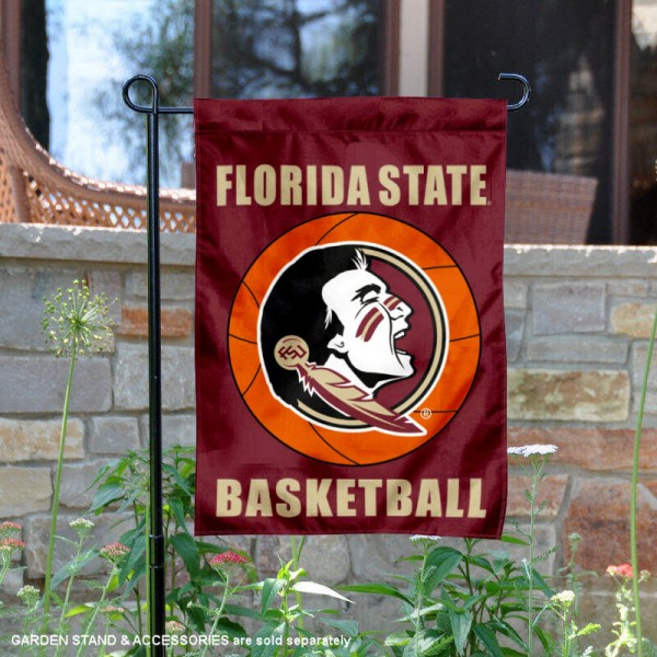 Florida State Seminoles Basketball Garden Banner is 13x18 inches in size, is made of 2-layer polyester, screen printed athletic logos and lettering. Available with Same Day Express Shipping, Our Florida State Seminoles Basketball Garden Banner is officially licensed and approved by the school and the NCAA.