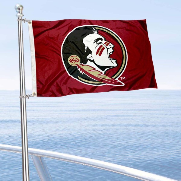 Florida State Seminoles Boat and Mini Flag is 12x18 inches, polyester, offers quadruple stitched flyends for durability, has two metal grommets, and is double sided. Our mini flags for Florida State Seminoles are licensed by the university and NCAA and can be used as a boat flag, motorcycle flag, golf cart flag, or ATV flag.