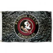 Florida State Seminoles Camo Flag