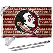 Florida State Seminoles Chevron Flag Pole and Bracket Kit