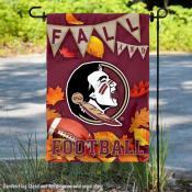 Florida State Seminoles Fall Football Autumn Leaves Decorative Garden Flag