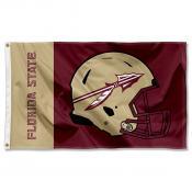 Florida State Seminoles Football Helmet Flag