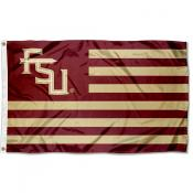 Florida State Seminoles FSU Stripes Flag