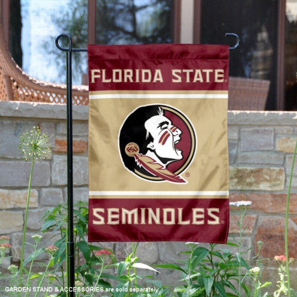 Florida State Seminoles Garden Flag is 13x18 inches in size, is made of 2-layer polyester, screen printed logos and lettering. Available with Same Day Express Shipping, Our Florida State Seminoles Garden Flag is officially licensed and approved by the NCAA.