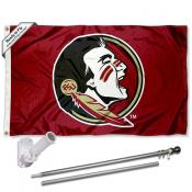 Florida State Seminoles New Logo Flag Pole and Bracket Kit