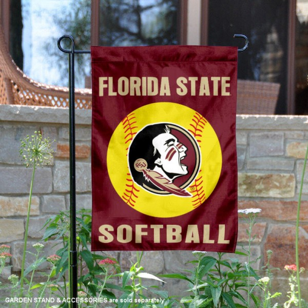 Florida State Seminoles Softball Garden Flag and Yard Banner is 13x18 inches in size, is made of 2-layer double sided with liner polyester, screen printed Florida State Seminoles athletic logos and lettering. Available with Same Day Express Shipping, Our Florida State Seminoles Softball Garden Flag and Yard Banner is officially licensed and approved by Florida State Seminoles and the NCAA.
