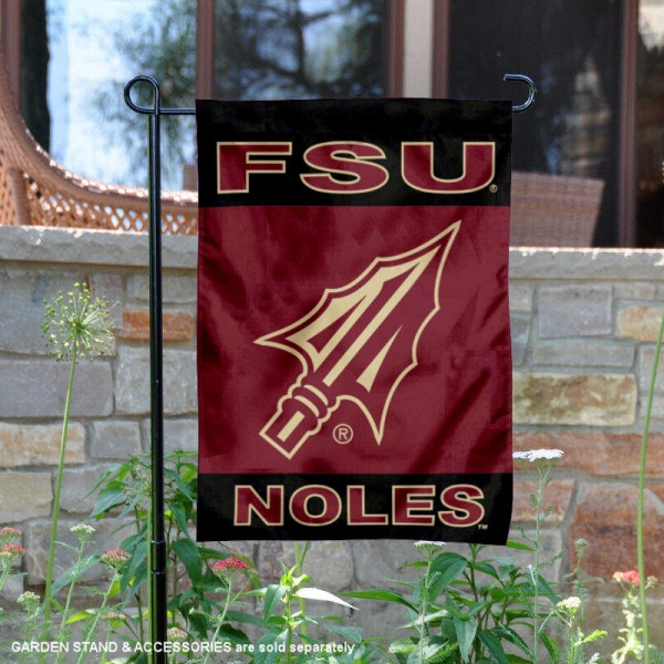 Florida State Seminoles Spear Garden Flag is 13x18 inches in size, is made of 2-layer polyester, screen printed university athletic logos and lettering, and is readable and viewable correctly on both sides. Available same day shipping, our Florida State Seminoles Spear Garden Flag is officially licensed and approved by the university and the NCAA.