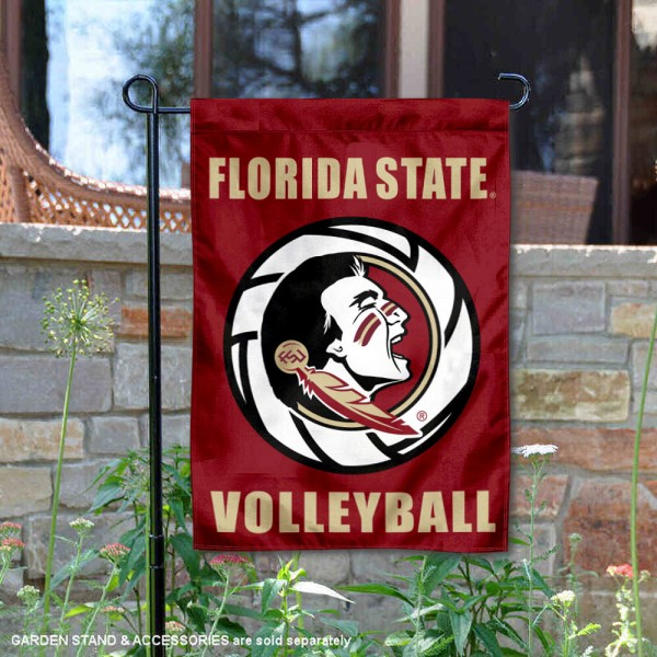 Florida State Seminoles Volleyball Team Garden Flag is 13x18 inches in size, is made of 2-layer polyester, screen printed Florida State Seminoles Volleyball athletic logos and lettering. Available with Express Shipping, Our Florida State Seminoles Volleyball Team Garden Flag is officially licensed and approved by the University and the NCAA.