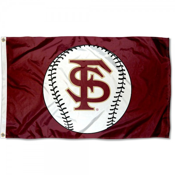 Florida State University Baseball Flag measures 3'x5', is made of 100% poly, has quadruple stitched sewing, two metal grommets, and has double sided Team University logos. Our Florida State University Baseball Flag is officially licensed by the selected university and the NCAA.