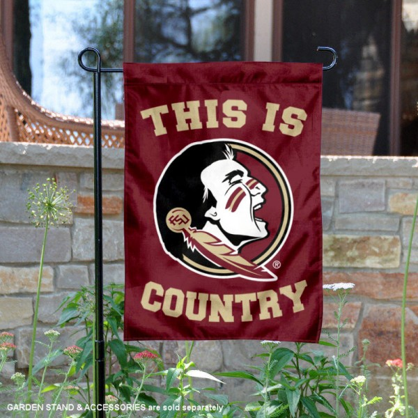 Florida State University Country Garden Flag is 13x18 inches in size, is made of 2-layer polyester, screen printed university athletic logos and lettering, and is readable and viewable correctly on both sides. Available same day shipping, our Florida State University Country Garden Flag is officially licensed and approved by the university and the NCAA.