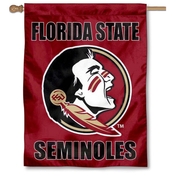 Florida State University House Flag is a vertical house flag which measures 30x40 inches, is made of 2 ply 100% polyester, offers dye sublimated NCAA team insignias, and has a top pole sleeve to hang vertically. Our Florida State University House Flag is officially licensed by the selected university and the NCAA