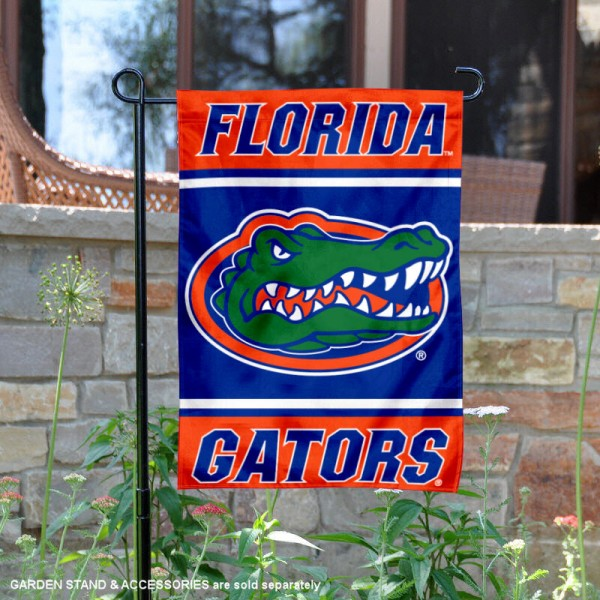 Florida UF Gators Garden Flag is 13x18 inches in size, is made of 2-layer polyester, screen printed logos and lettering. Available with Same Day Express Shipping, Our Florida UF Gators Garden Flag is officially licensed and approved by the NCAA.