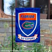Florida UF Gators Go Gators Shield Garden Flag