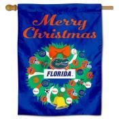 Florida UF Gators Happy Holidays Banner Flag